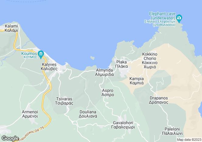 Map for Almyrida, Chania, Crete