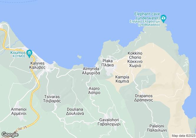 Map for Almyrida, Chania, Greece