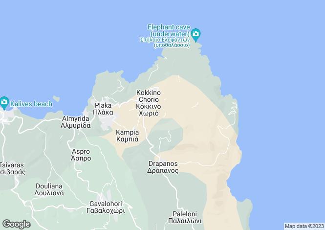 Map for Crete, Chania, Kokkino Chorio