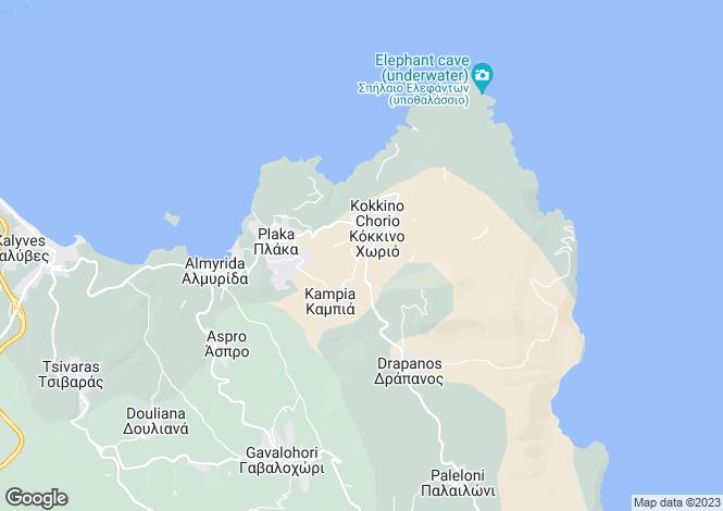 Map for Crete, Chania, Kokkino Horio