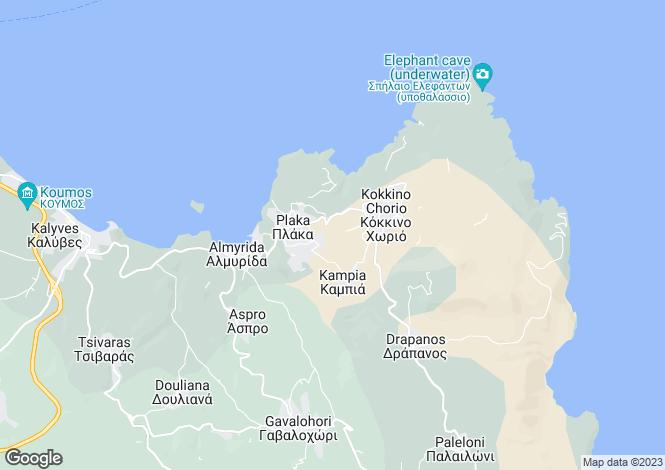 Map for Kokkino Horio, Chania, Crete