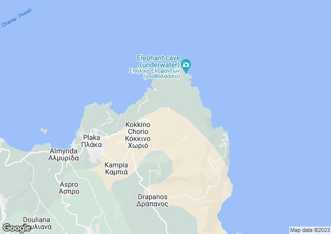 Map for Crete, Chania, Kokkino Chorio Apokoronas