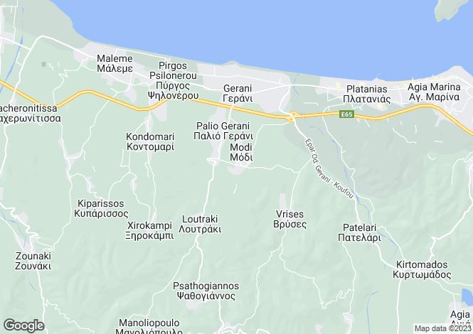 Map for Crete, Chania, Modi
