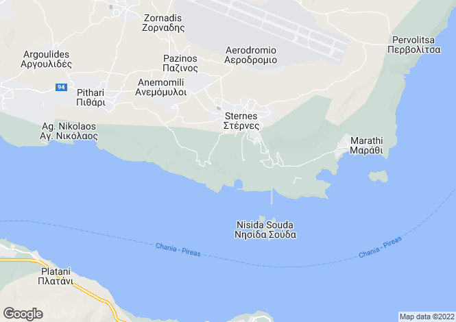 Map for Crete, Chania, Sternes