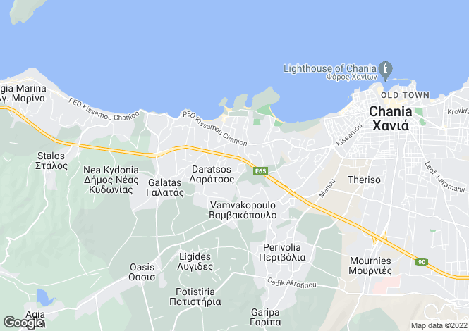 Map for Crete, Chania, Perivolia