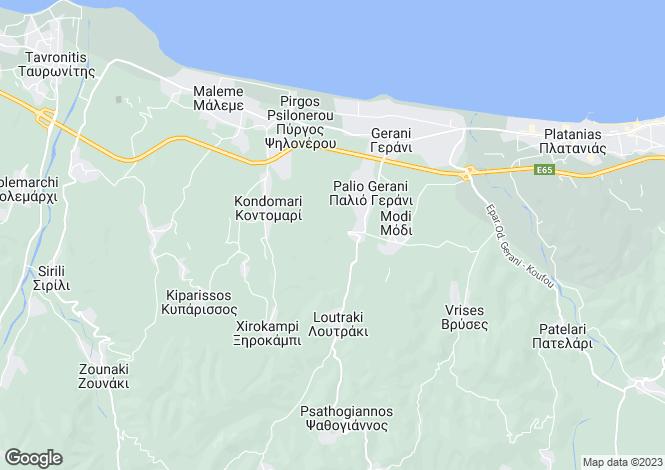 Map for Crete, Chania, Gerani