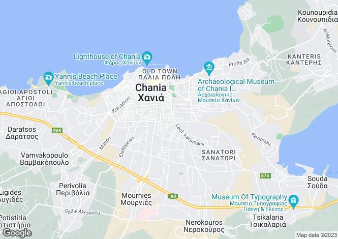 Map for Crete, Chania, Plaka Apokoronou