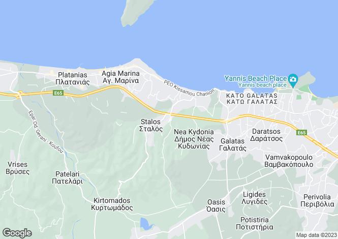 Map for Crete, Chania, Pano Stalos