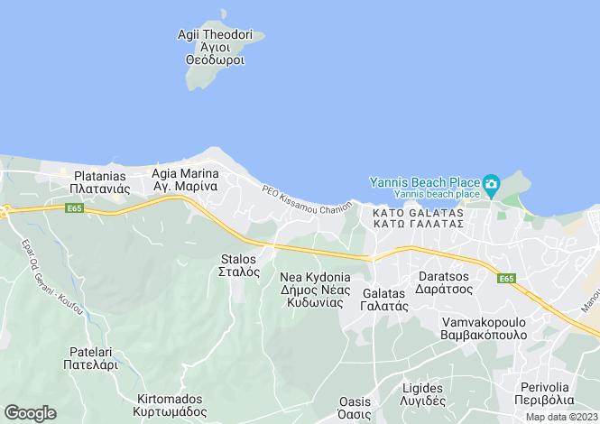 Map for Nea Kidonia, Chania, Greece