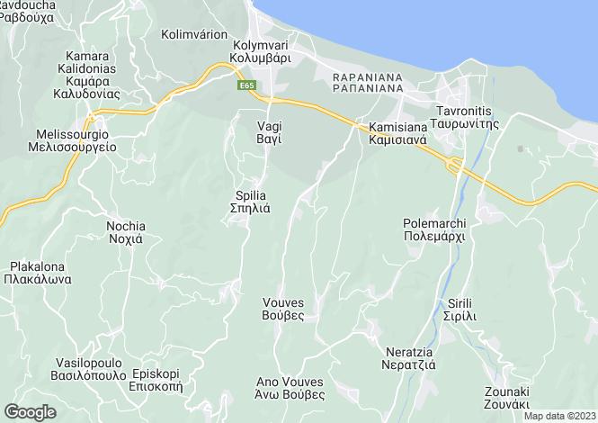 Map for Crete, Chania, Darmorohori