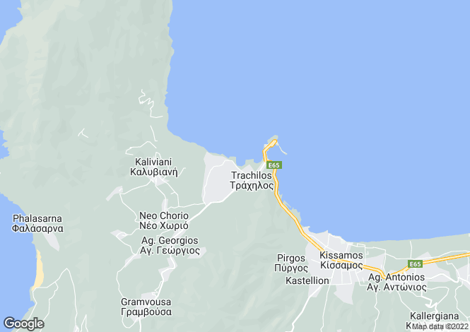 Map for Crete, Chania, Kastelli