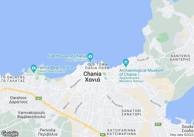 Map for Chania, Chania, Greece