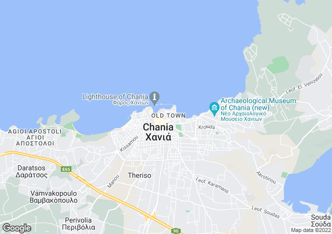 Map for Chania, Chania, Crete
