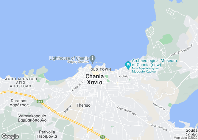 Map for Chania Town, Chania, Greece