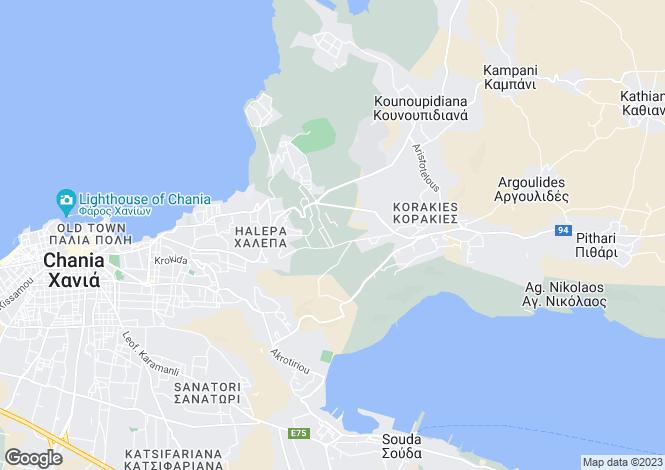 Map for Crete, Chania, Chania