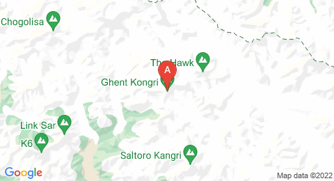 map of Ghent Kangri (India)