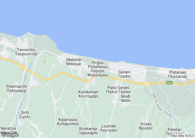 Map for Crete