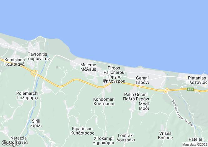 Map for Pyrgos Psilonerou, Chania, Crete