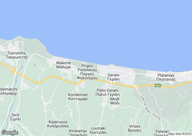 Map for Crete, Chania, Pyrgos Psilonerou