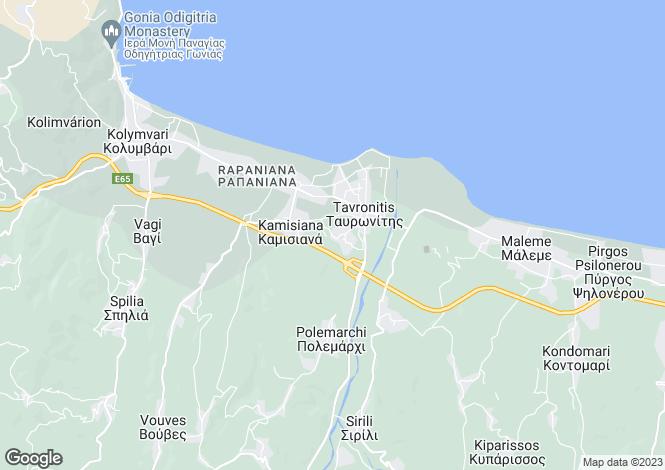 Map for Tavronitis, Chania, Crete