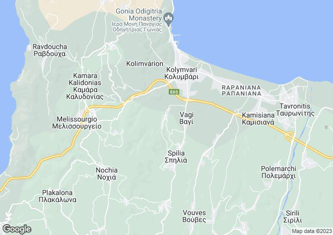 Map for Marathokefalas, Chania, Crete