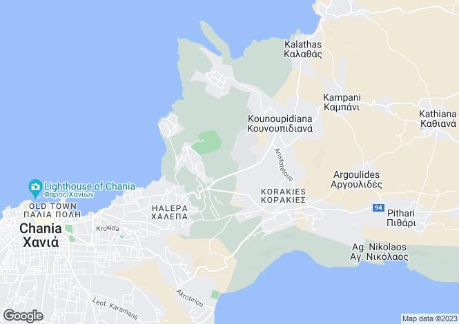 Map for Chania, Chania, Crete