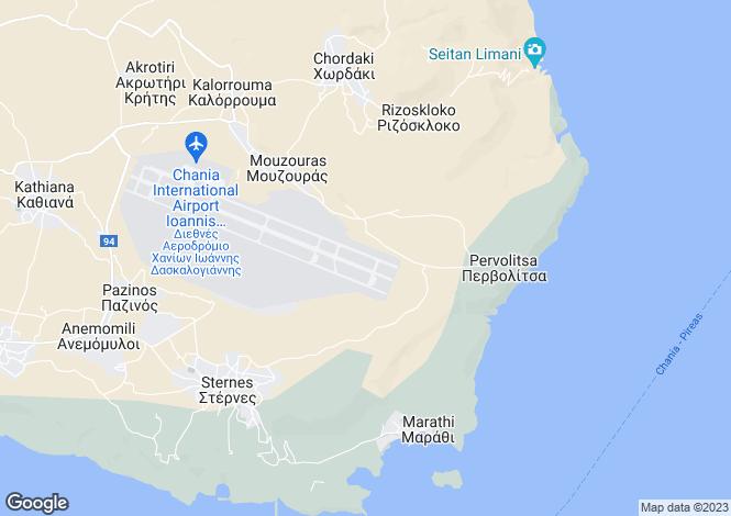 Map for Crete, Chania, Sternes