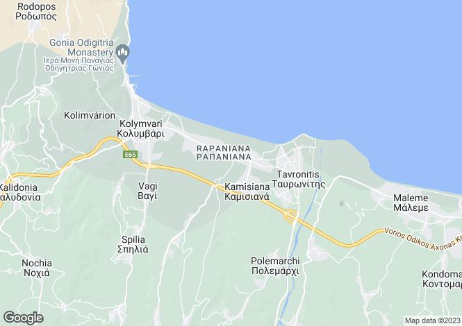 Map for Crete, Chania, Skoutelonas