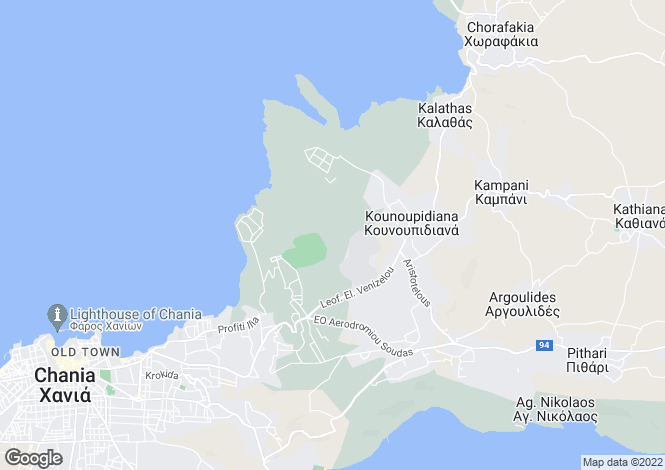 Map for Crete, Chania, Kalathas