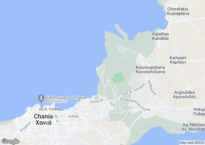 Map for Crete, Chania, Chania