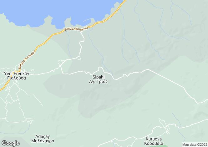 Map for Yenierenkoy, Famagusta