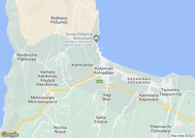 Map for Kolymvari, Chania, Crete