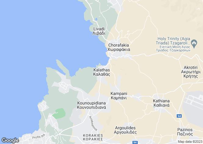 Map for Kalathas, Chania, Crete