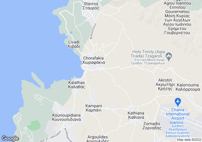Map for Crete, Chania, Horafakia