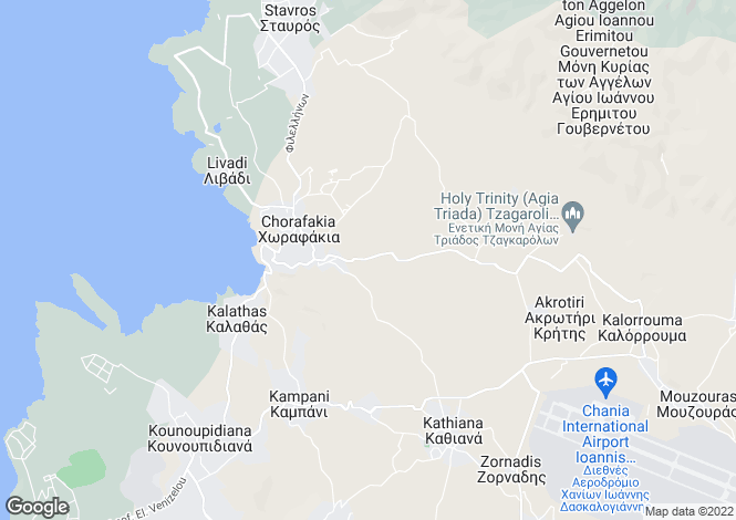 Map for Crete, Chania, Chorafakia