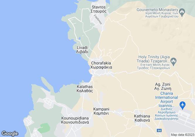 Map for Crete, Chania, Tersanas