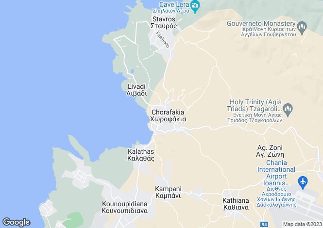 Map for Tersanas, Chania, Crete