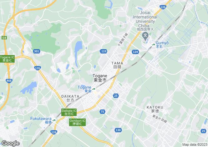 Map for Tokyo, Tama