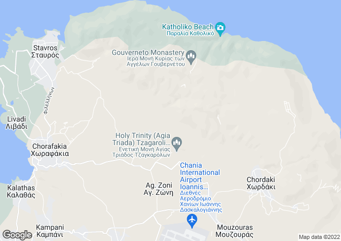 Map for Akrotiri, Chania, Greece