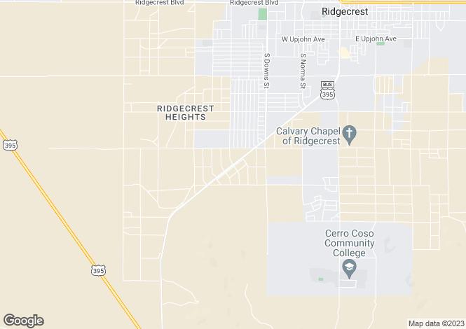 Map for California, Kern County, Ridgecrest