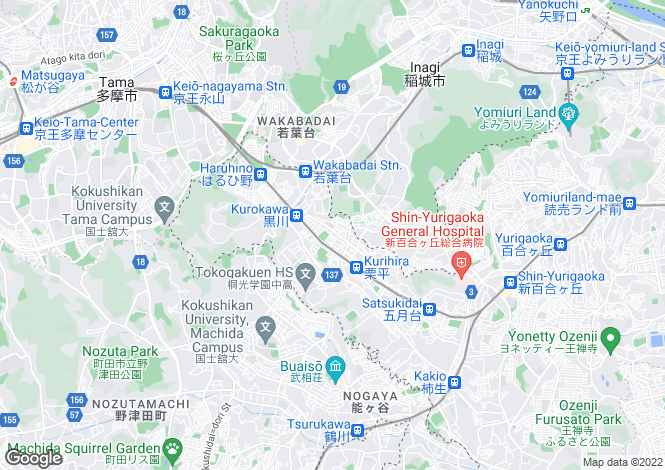 Map for Kanagawa