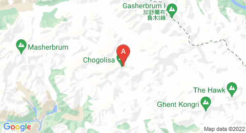 map of Chogolisa (Pakistan)