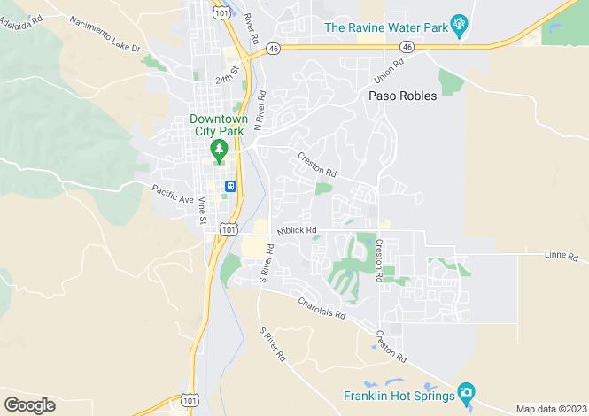 Map for USA - California, San Luis Obispo County, Paso Robles