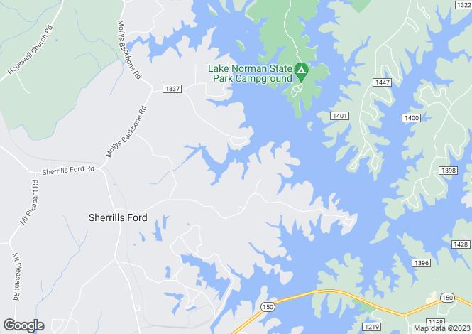 Map for North Carolina