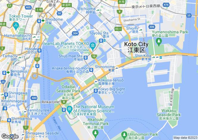 Map for Kumamoto, Ariake