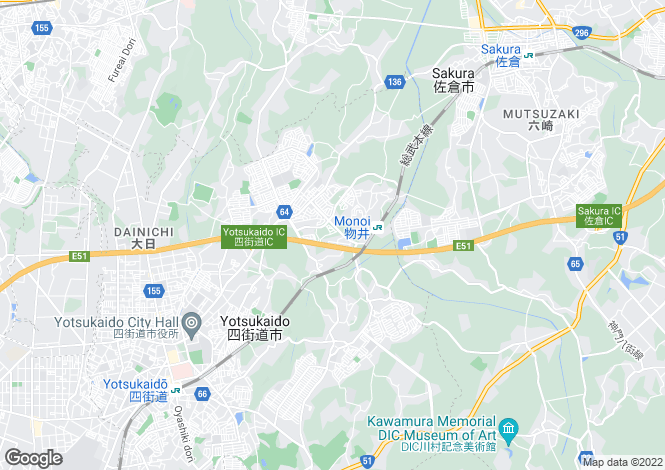 Map for Chiba