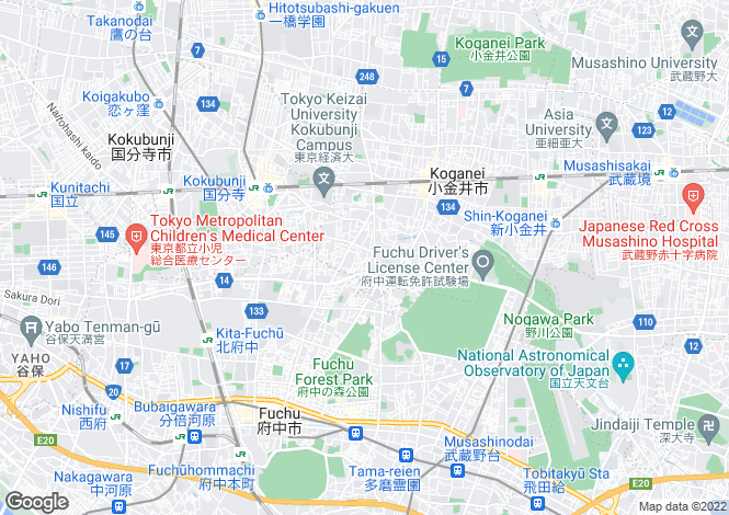 Map for Tokyo