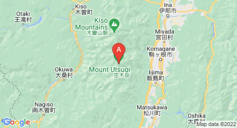 map of Mount Utsugi (Japan)