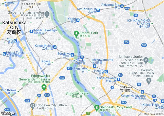 Map for Chiba, Ichikawa