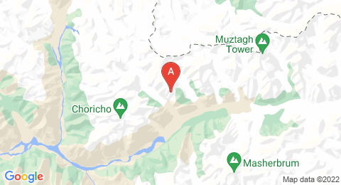 map of Trango Towers (Pakistan)